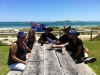 Staff chilling out on Australia Day in Australia\'s best beergarden!