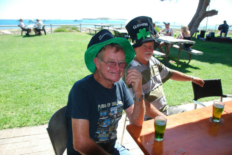 Some local scallywaggs dressed up for St Paddy\'s Day